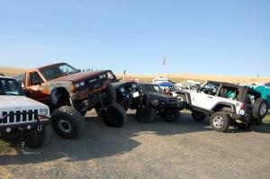 Jeeps at play